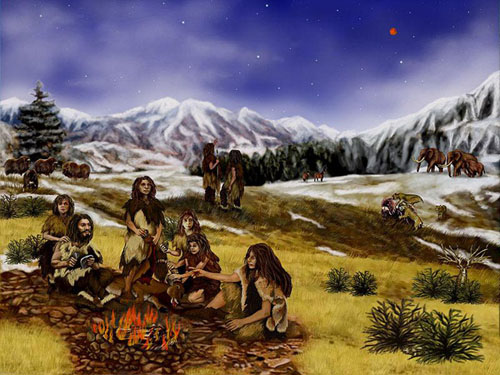 Neanderthals using fire