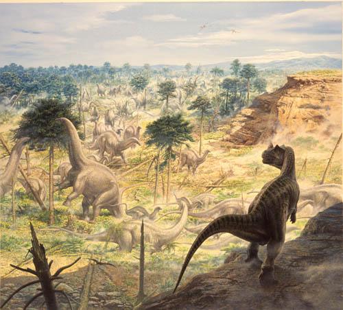 Ceratosaurs and Apatosaurus