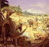 image of hadrosaur herds