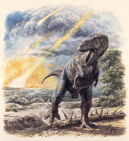 Tyrannosaurs in meteor shower