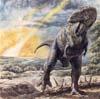 image tyrannosaurus in meteor shower