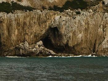 Gorham Cave on Gibraltar