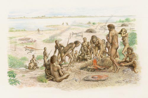 Homo sapiens burial