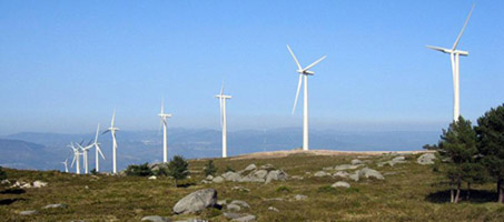 Wind Park in Galicia, Spain
